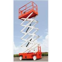 Best 4m 8m 12m lift height steel red color  electric hydraulic self-propelled  scissor lift wholesale