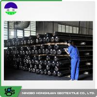 Buy cheap 150g Black High Strength Circle Loom Polypropylene Woven Geotextile Filter Fabric product