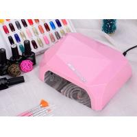China LED UV CCFL LED Nail Lamp Dual Hand Red Diamond Shape With Environment Protection on sale