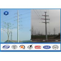 China HDG Steel Polygonal electric power pole , Double Circuits Strain power transmission poles on sale
