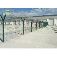 Best Welded 3D Welded Wire Fence Panels Triangle Bending For Water Treatment Works wholesale