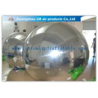 China PVC Silver Inflatable Mirror Ball , Christmas Inflatable Yard Decorations Balloons on sale