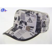 Cotton Canvas Cool Baseball Caps / Military Hats With Camo Printing Logo