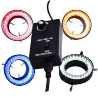 China Colorful Yellow Red Microscope Led Ring Light Microscope Ring Light Illuminator on sale