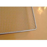 Best 304 SS Perforated Wire Mesh Tray Light Weight With Grit Blasting , 100cm*50cm*20cm wholesale