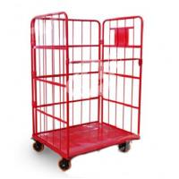 Best Powder Coated Steel Roll Container Steel Foldable Roll Cage 52.5kg Net Weight wholesale