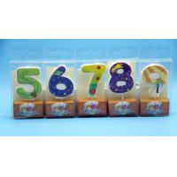 Best Lovely 0-9 Number Birthday Candles Set With Glitter Decoration Smokeless wholesale