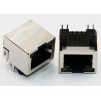 China Brass Shielded Right Angle RJ45 Connector , 90 Degree Rj45 Coupler Built - In LED Lamp on sale