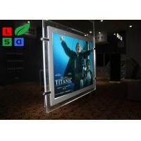 China Cable Suspension LED Shop Display Graphic Size A3 A4 LED Light Pockets For Real Estate Store on sale