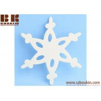 Best Unfinished Wood Lace Snowflake Cutout Christmas tree ornaments Holidays Gift Ornament wholesale