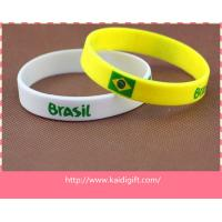 OEM design various bulk cheap brazil silicone wristbands