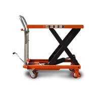 China 1000kg 1T Manual Ground Pneumatic Hydraulic Scissor Lift Table on sale