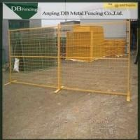 China Steel Building Site Security Fencing , Powder Coated Portable Metal Fence Panels on sale