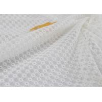China Stabilizer Voile Embroidered Eyelet Polyester Lace Fabric For Wedding Dress on sale