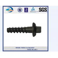 Quality 5.6 Grade Carbon Steel Q235 Railway Sleeper Screws Spike HRC22 - HRC32 for sale