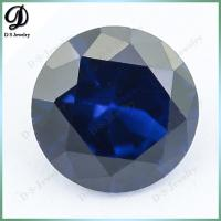 Oval shape blue sapphire synthetic stone for jewelry making in carat
