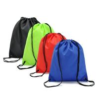 China polyester 190T 210D nylon drawstring bag outdoor sport bag packing pouch shopping bag high quality promotion item on sale