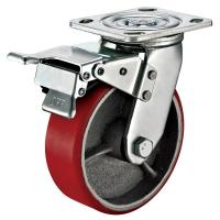 Best Small Red Caster Wheels / Heavy Duty Locking Swivel Casters With Plate Fitting wholesale