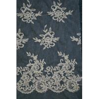 China Ivory   Embroidery Lace Fabric for Wedding Dress Hot Sale on sale