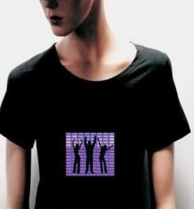 China EL Glow T-shirt,  EL Music Flashing T-shirt,  Music T-shirt,  EL Tshirt on sale