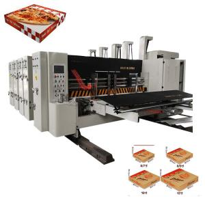 China Corrugated Cardboard 800mm Pizza Box Making Machine on sale