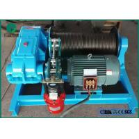 Cheap Namibia building road eletric winch 10t with slow speed and wire rope for sale