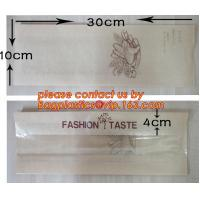 OEM High Quality Enviromental Clear Window Bread Toast Paper Bags, Brown Kraft Sharp Bottom Food Safe Snack Paper Bags w