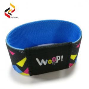 Best Wholesale reusable long range 13.56MHz ISO15693 woven elastic stretch RFID wristband wholesale