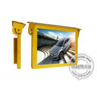 Best 19 inch Yellow Color Frame Roof Mount Bus Digital Signage Android WIFI 4G GPS Module LCD Bus Advertising Display Screen wholesale