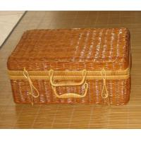 Best Two Person Use Natural Color Chinese silvergrass Picnic Basket wholesale