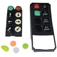 Best Black Tv Remote Control Buttons , Carbon Pill Keypad With Spraying Coating PU Coating wholesale