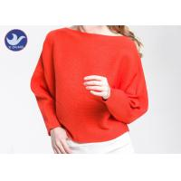 Best Boat Neck  Womens Knit Pullover Sweater Lady Sexy Drop Shoulder Ottoman Knitted Jumper wholesale