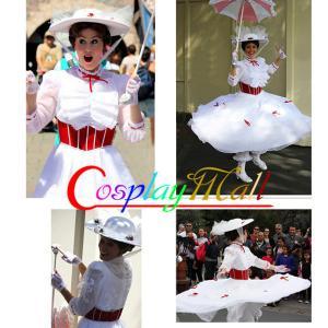 China Princess Dress Wholesale White Satin Chiffon Lace Movie Cosplay Costume Mary Poppins Dress Women Party Dress XXS to XXXL on sale