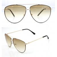 Best Modern Men and Lady Full Frame Sunglasses With White Metal Frame wholesale