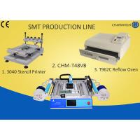 Buy cheap 3040 Stencil Printer + Chmt48vb Table Top Pick And Place + T961 Reflow Oven , Smt Line product