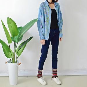 Best Mid Rise Women's Straight Leg Jeans Skinny Fit wholesale