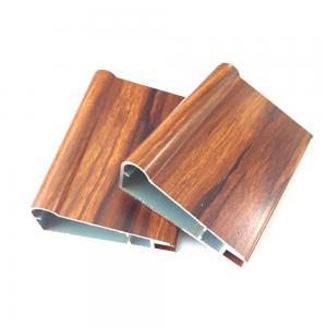 Best Modern Furniture Wood Grain Kitchen Cabinet T6 Door Aluminum Profile wholesale