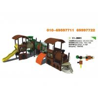 Best Timber Wooden Train Playground Entertainment playground equipment wholesale