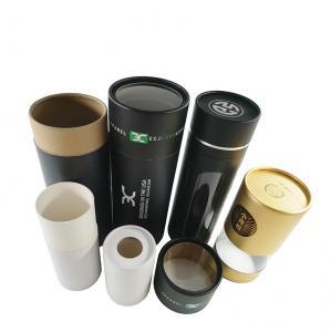 Best Custom Kraft Paper Black Tube Packaging Round Gift Box For Skincare wholesale