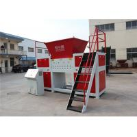Customized Plastic Waste Twin Shaft Shredder Auto Reverse Switch 2 * 45kw 1250kg / H
