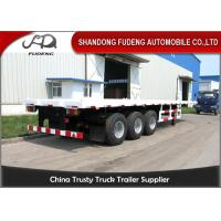 Best 2 / 3 Axle 20 Foot Flatbed Trailer/ Truck Flatbed TrailersWith Container Lock wholesale