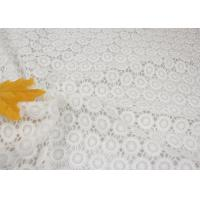 Best White Chemical Water Soluble Guipure Lace Fabric By The Yard For Party Sexy Dress wholesale