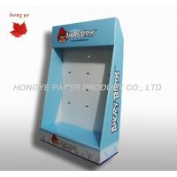 China Exhibition Table Top Corrugated Cardboard Display Boxes With Hook on sale