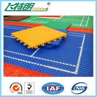 Cheap PP Outdoor Interlocking Removable Playground Rubber Mats 250x250x12.7cm for sale