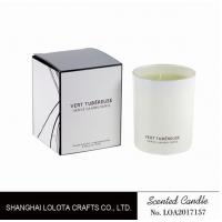 Best Living Room Natural Soy Candles , Decorative Scented Candles In The Light White Color Bottle wholesale