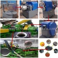 China Semi Auto Rubber Tyre Recycling Machine / Rubber Tire Shredder ISO Certification on sale