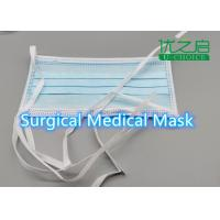 China Lace Up Disposable Medical Mask High Breathability With Iso Ce Certification on sale