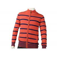 Best Zipper Cardigan Sweaters Cute Orange Mens Striped Sweater Medium Cardigan wholesale
