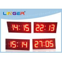 Best 4 Digits Industrial Digital Clock , Wall Mounted Digital Clock With Hanging Brackets wholesale