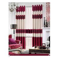 China Shrink-Resistant Polyester Luxury Ready Made Curtains , Ring And Splice wholesale